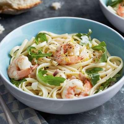 Linguine with Shrimp and Lemon Oil - RecipeNode.com