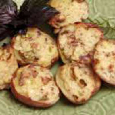 Loaded Potatoes-stuffed With Bacon, Cream Cheese, and Scallions - RecipeNode.com