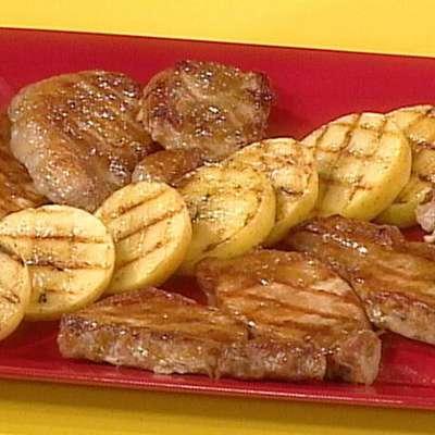 Maple Mustard Barbecued Pork Chops - RecipeNode.com
