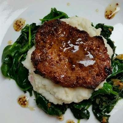 Maple-Mustard Glazed Pork Chops - RecipeNode.com