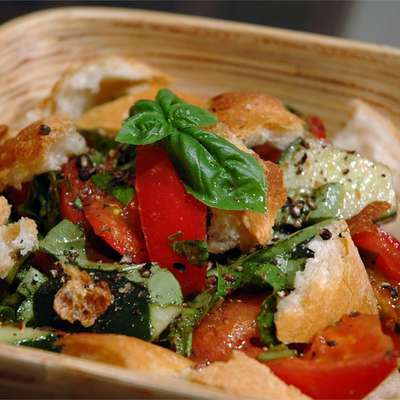 Mid-Summer Italian Bread Salad - RecipeNode.com