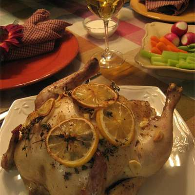 Moist Garlic Roasted Chicken - RecipeNode.com