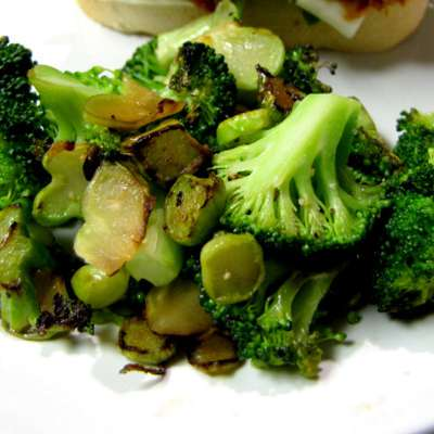 Pan-Roasted Broccoli - RecipeNode.com