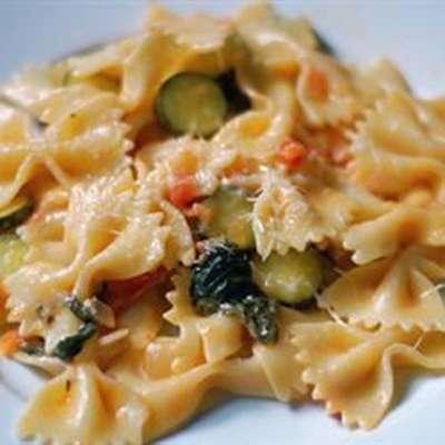 Pasta Primavera with Italian Turkey Sausage - RecipeNode.com