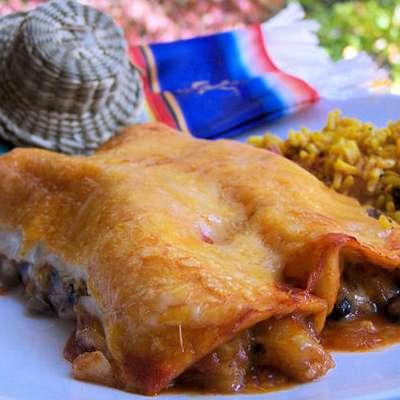 Pineapple-Black Bean Enchiladas - RecipeNode.com