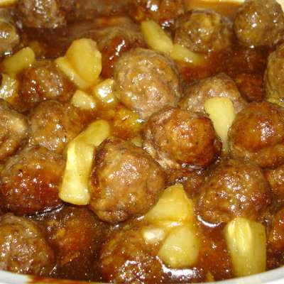 Pineapple Meatballs - RecipeNode.com