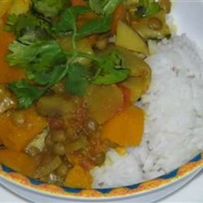 Pumpkin Curry with Lentils and Apples - RecipeNode.com