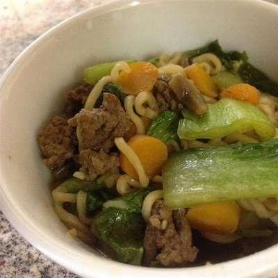 Quick Asian Beef Noodle Soup - RecipeNode.com