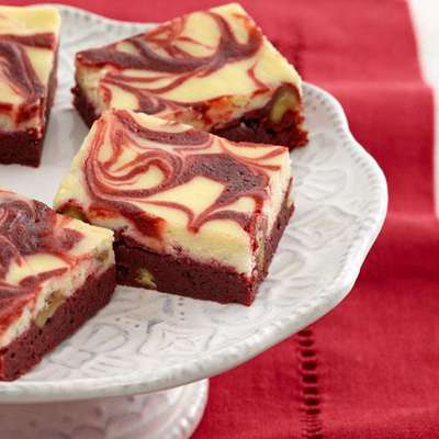 Red Velvet Swirl Brownies - RecipeNode.com