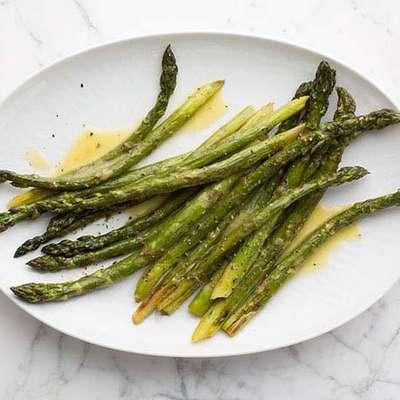 Roasted Asparagus with Lemon Vinaigrette - RecipeNode.com