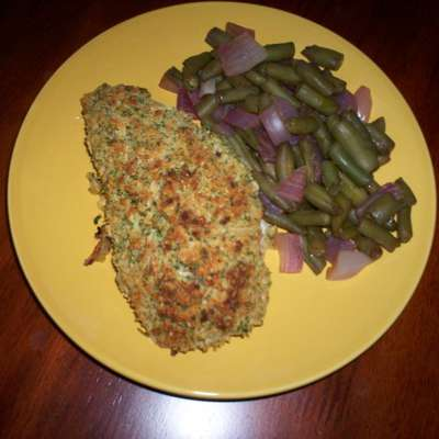 Salmon With Parmesan, Garlic and Herb Crust- Use Chicken or Pork - RecipeNode.com