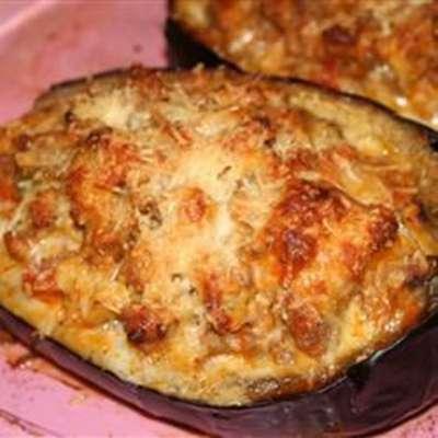 Sausage-Stuffed Eggplant - RecipeNode.com