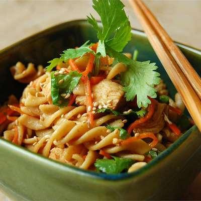 Sesame Pasta Chicken Salad - RecipeNode.com