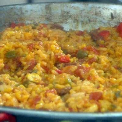 Shrimp and Scallop Easy Paella - RecipeNode.com