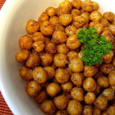 Simple Roasted Chickpea Snack - RecipeNode.com