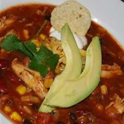 Slow Cooker Chicken Taco Soup - RecipeNode.com