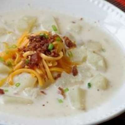 Slow Cooker Creamy Potato Soup - RecipeNode.com
