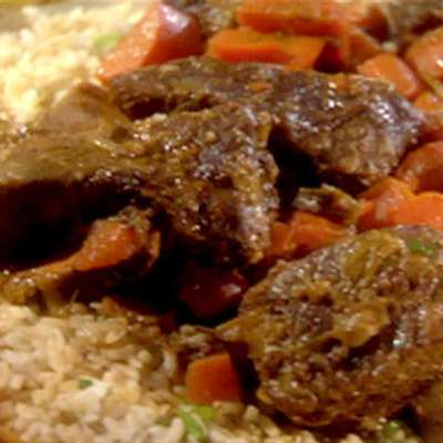 Slow Cooker Ginger-Soy Short Ribs Green Rice with Lime - RecipeNode.com