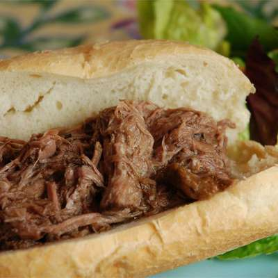 Slow Cooker Italian Beef for Sandwiches - RecipeNode.com