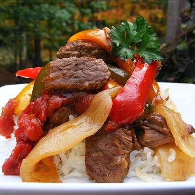Slow-Cooker Pepper Steak - RecipeNode.com