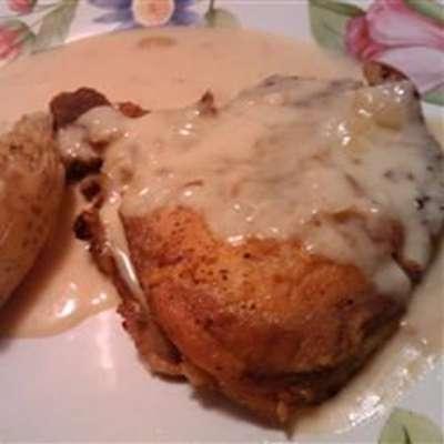 Sour Cream Pork Chops - RecipeNode.com