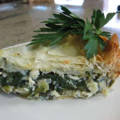 Spanakopita (Greek Spinach Pie) - RecipeNode.com