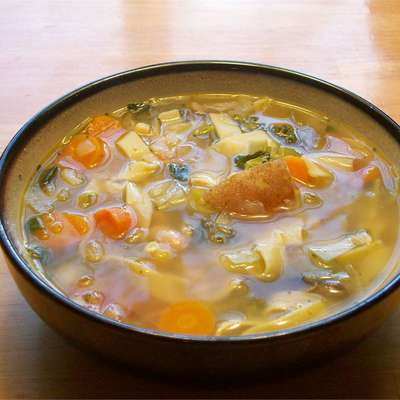 Spring Vegetable Soup - RecipeNode.com