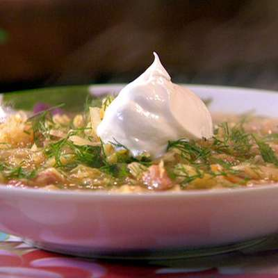 "Sweet n ""Saur"" Cabbage Soup - RecipeNode.com"