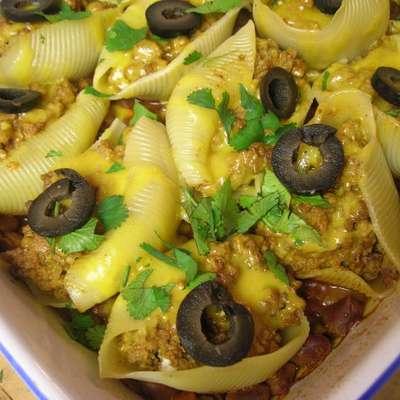 Taco Stuffed Pasta shells - RecipeNode.com