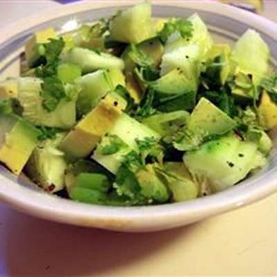 Tangy Cucumber and Avocado Salad - RecipeNode.com