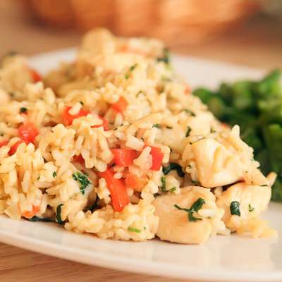 Thai Chicken Fried Rice with Basil - Kao Pad Krapao - RecipeNode.com