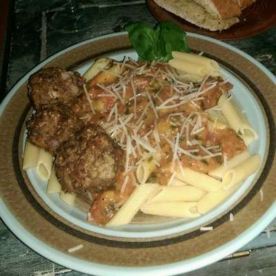 Three Animal Italian Meatballs - RecipeNode.com