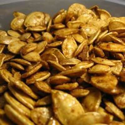 Toasted Pumpkin Seeds with Sugar and Spice - RecipeNode.com