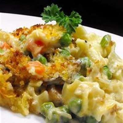 Tuna Noodle Casserole from Scratch - RecipeNode.com