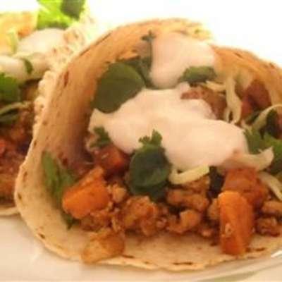 Turkey and Yam Spicy Tacos - RecipeNode.com