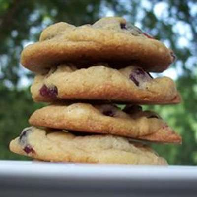 White Chocolate and Cranberry Cookies - RecipeNode.com