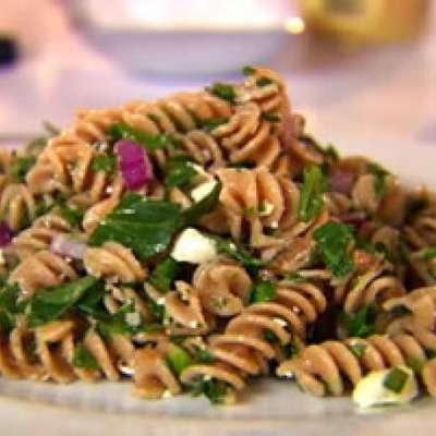 Whole-Wheat Pasta Salad with Walnuts and Feta Cheese - RecipeNode.com