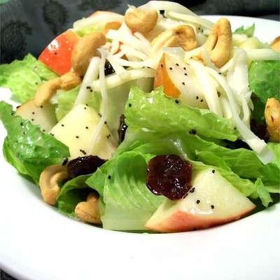 Winter Fruit Salad with Lemon Poppyseed Dressing - RecipeNode.com